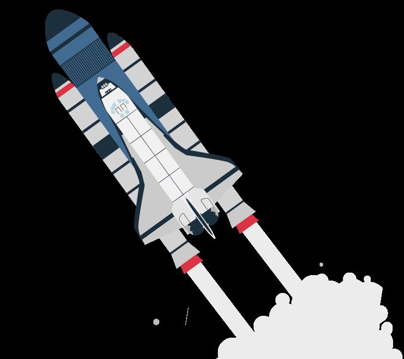 Cohete representando el aprendizaje
