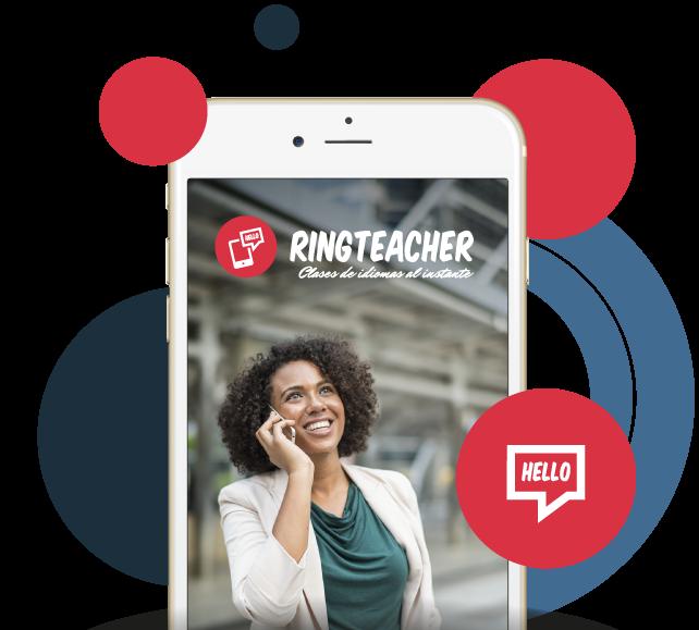 Teléfono móvil con aplicación de RIngteacher dentro