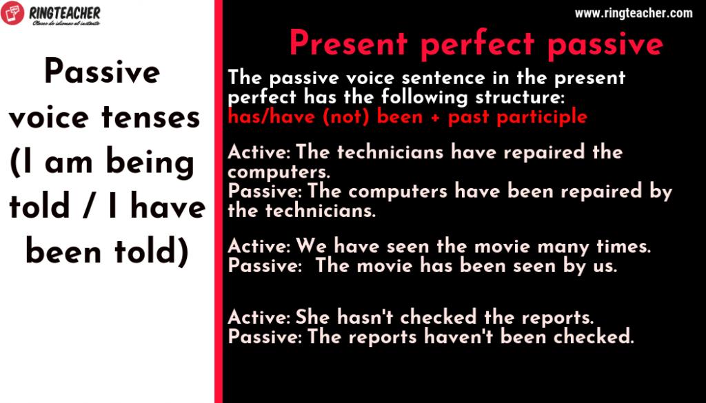 pasiva perfecta inglés