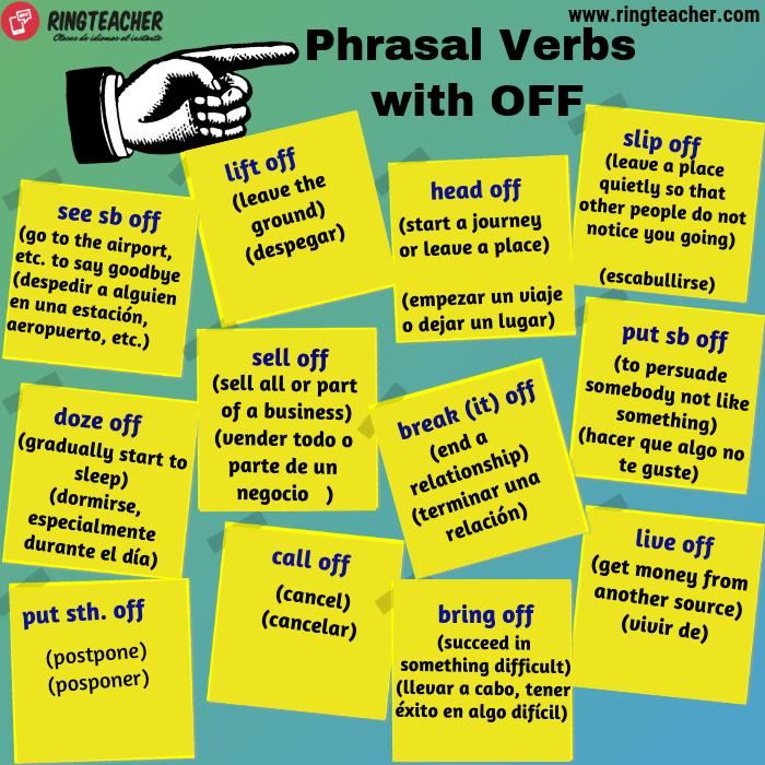 Phrasal Verbs con off