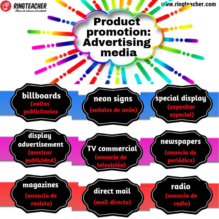 Promoción de productos en inglés